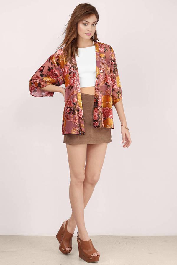 Blush Multi Cardigan - Pink Cardigan - Kimono Cardigan - NZ$ 28 ...