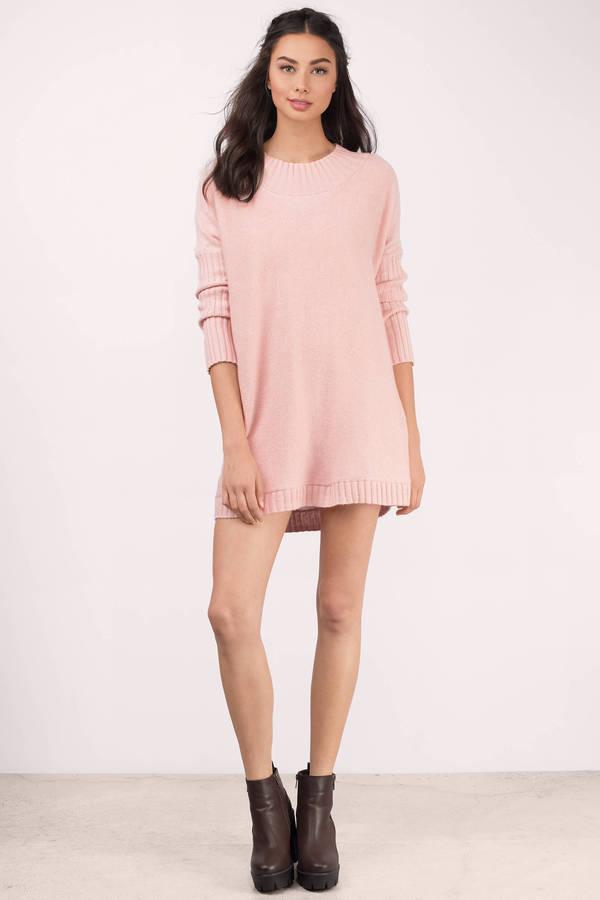 Blush Sweater - Pink Sweater - Tunic Sweater - A Line Sweater - S ...