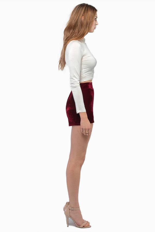Infatuation Velour Shorts