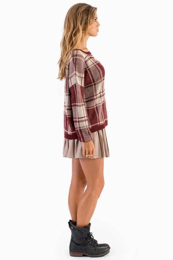Pierce plaid sweater tobi for Plaid shirt under sweater