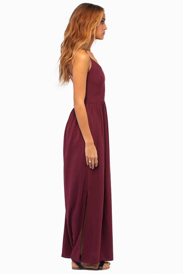 X Back Maxi Dress