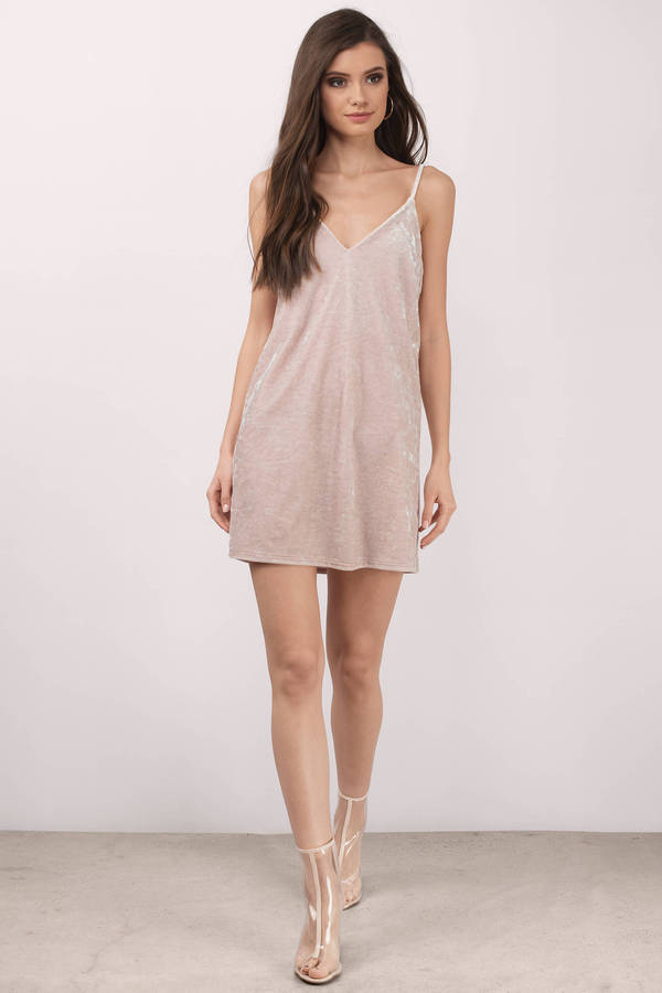 Jade Champagne Velvet Shift Dress