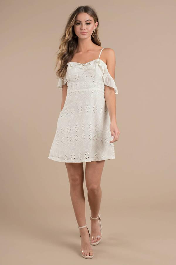 e1d37d9bb0 Astr Kristin Cream Cold Shoulder Dress - C  123