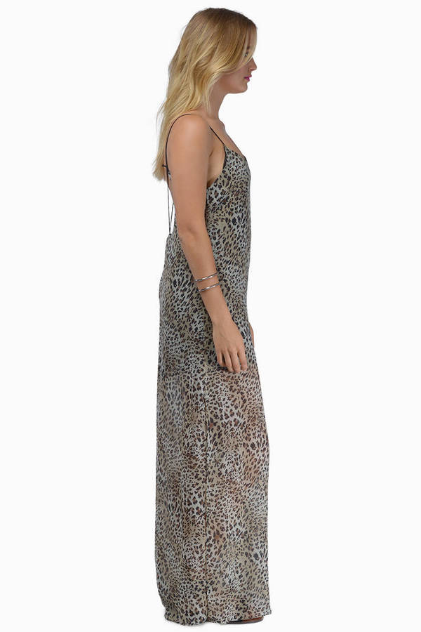 2e6832a321 Leopard Dress - Leopard Print Dress - Jungle Print Dress - Maxi ...