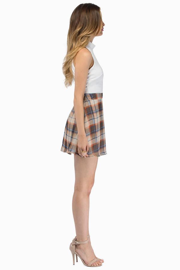Terry Plaid Skirt