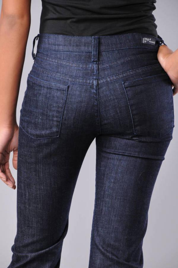 cfbfbd0db3d ... Citizens of Humanity Blue Hutton Stretch High-Rise Wide Leg Jeans In  Dark Paris