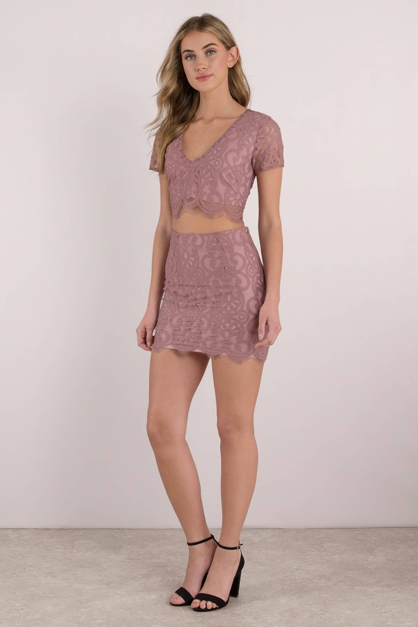 0a1dffe864 Cute Pink Crop Top - Scalloped Crop Top - Pink Lace Crop Top - € 16 ...
