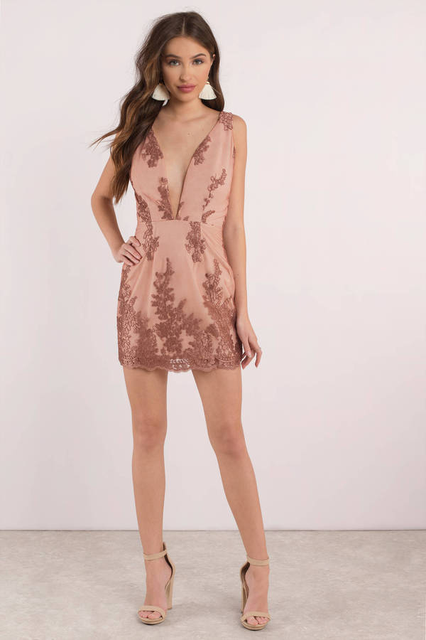 Rose Lace Evening Dress