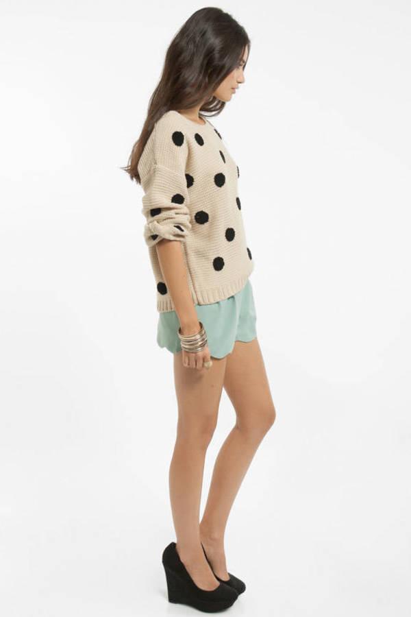 Jackie Scalloped Shorts