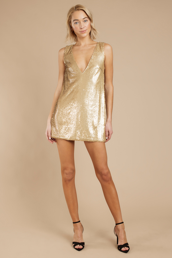 Gold sequin cocktail dresses cheap