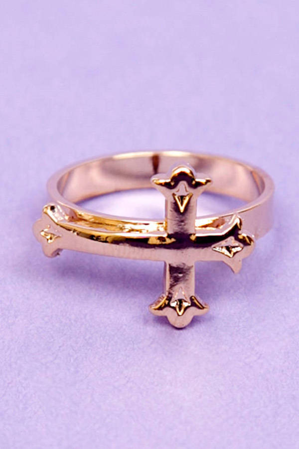 Victorian Cross Ring