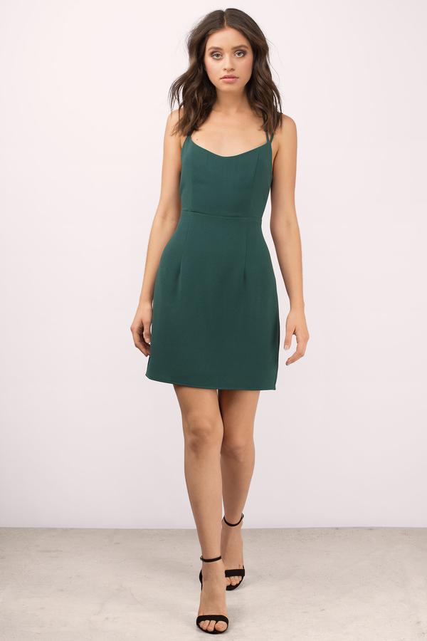 Sexy Black Bodycon Dress - Strappy Dress - $50.00