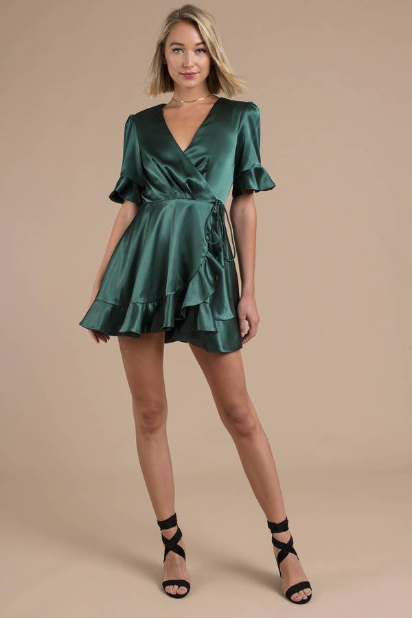 Finders Keepers Songbird Green Wrap Dress