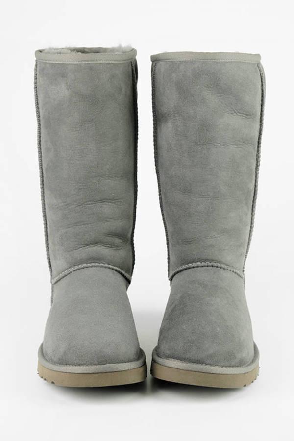 ... UGG Grey Classic Tall Sheepskin Boots
