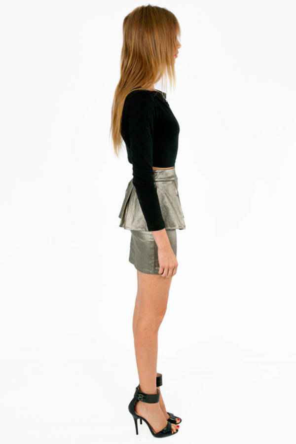 Panel Peplum Skirt