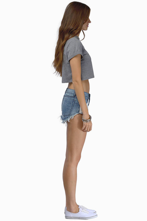 Beverly Crochet Denim Shorts