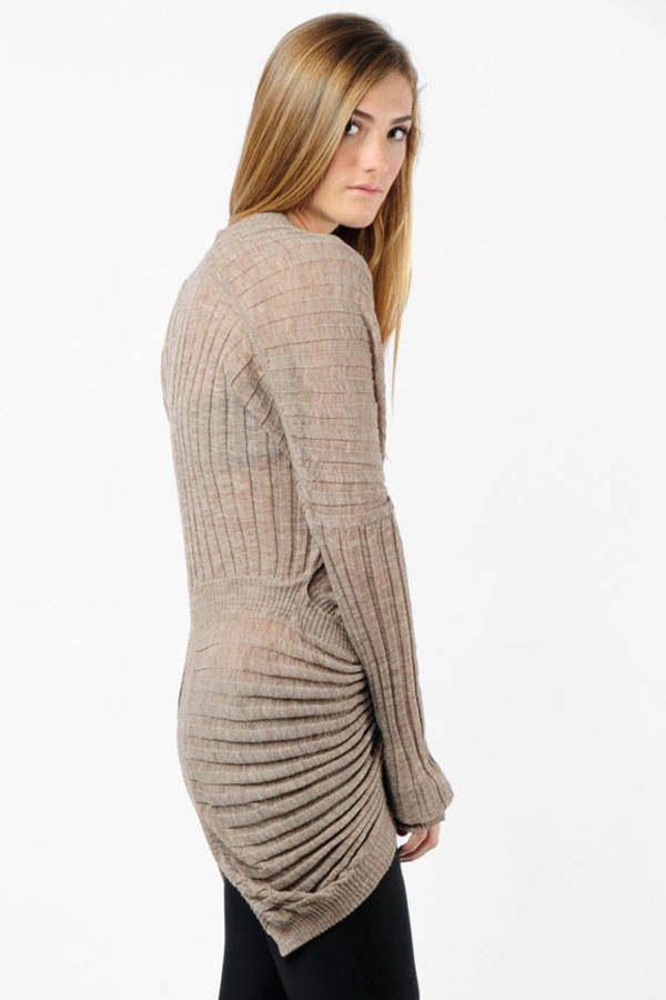 e513e3d972102 Brown Alexander Wang Top - Ribbed Pullover - Brown Wrap Sweater ...