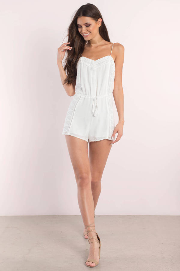 8d9c742e182 ... The Jetset Diaries The Jetset Diaries Cirrus Ivory Embroidered Trim  Cami Romper