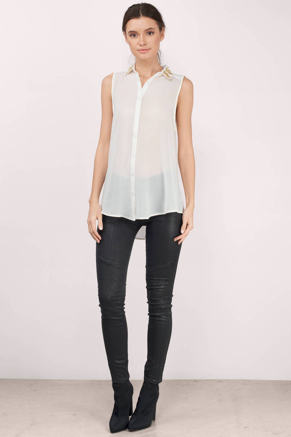 Cross My Collar Tank Shirt
