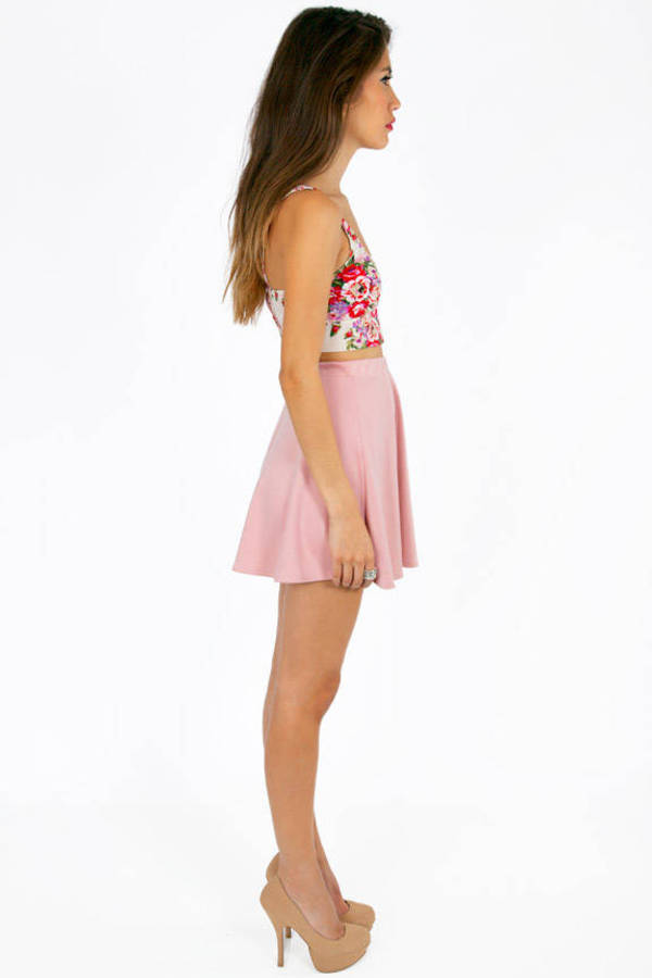 Mira Button Floral Crop Top