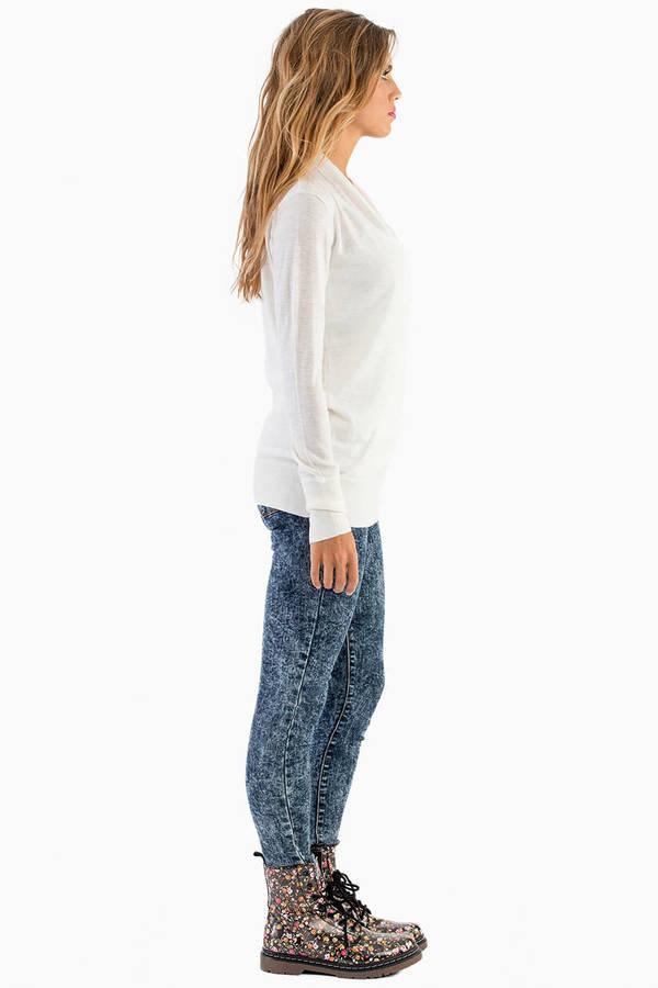 Juliana Wrap Front Sweater