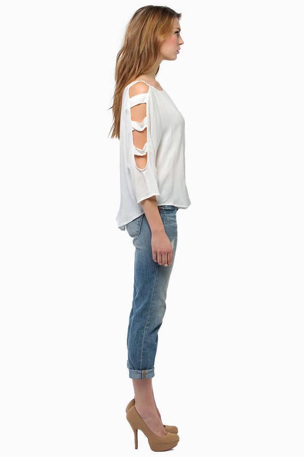 Kaylee Ladder Sleeve Top