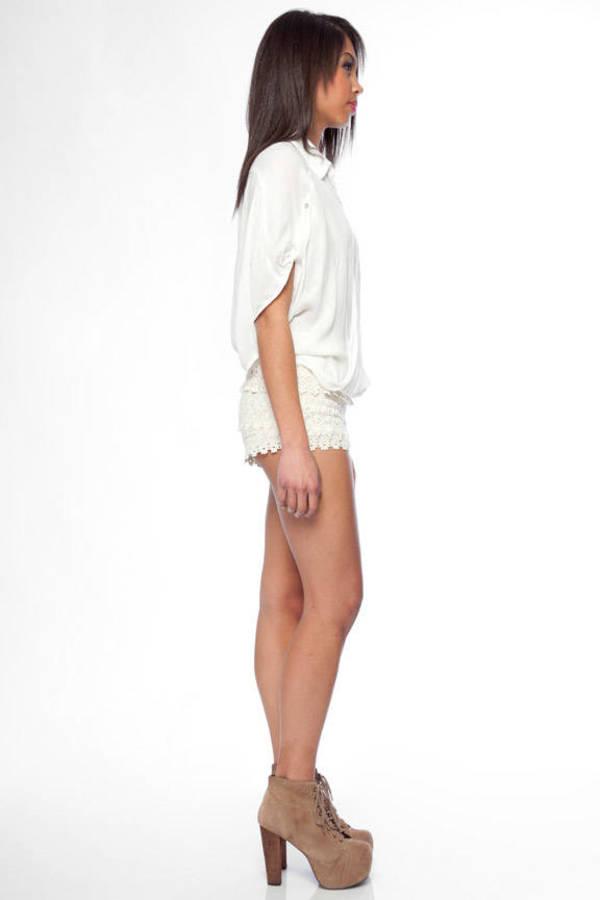 Sans Souci Lace Crochet Shorts