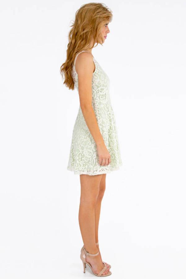 Lianna Lace Skater Dress