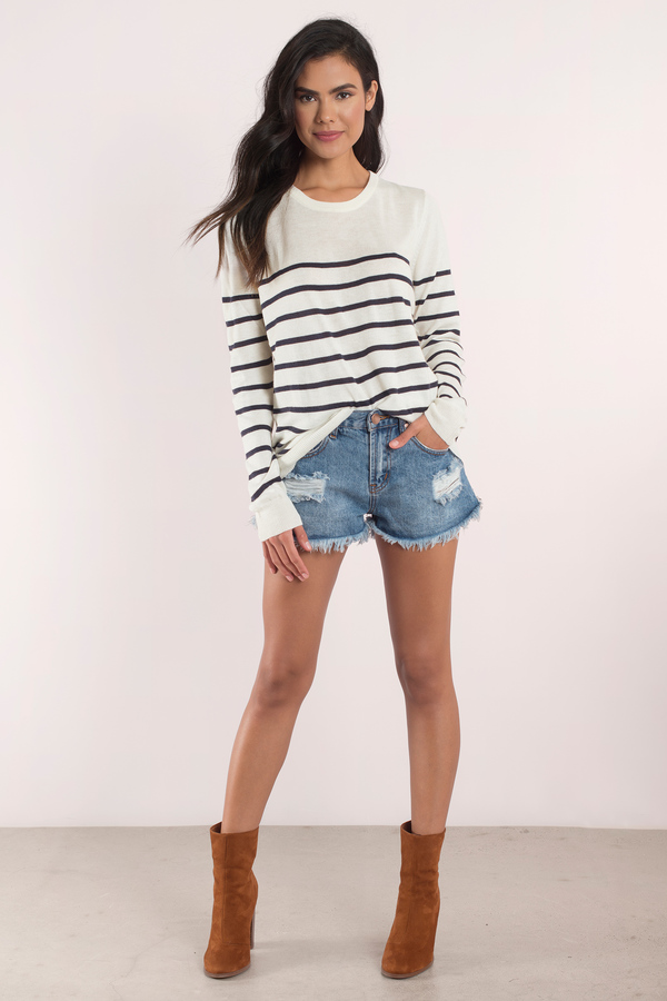 790e2971cd Olive   Black Sweater - Green Sweater - Long Sleeve Sweater -  11 ...