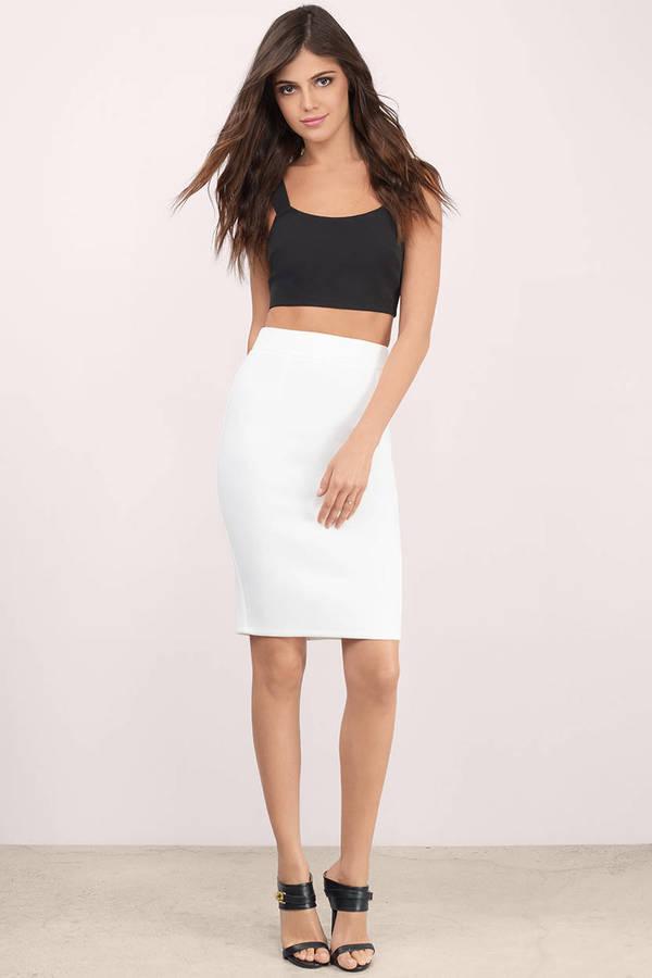 Cheap Ivory Skirt - White Skirt - Pencil Skirt - $15.00