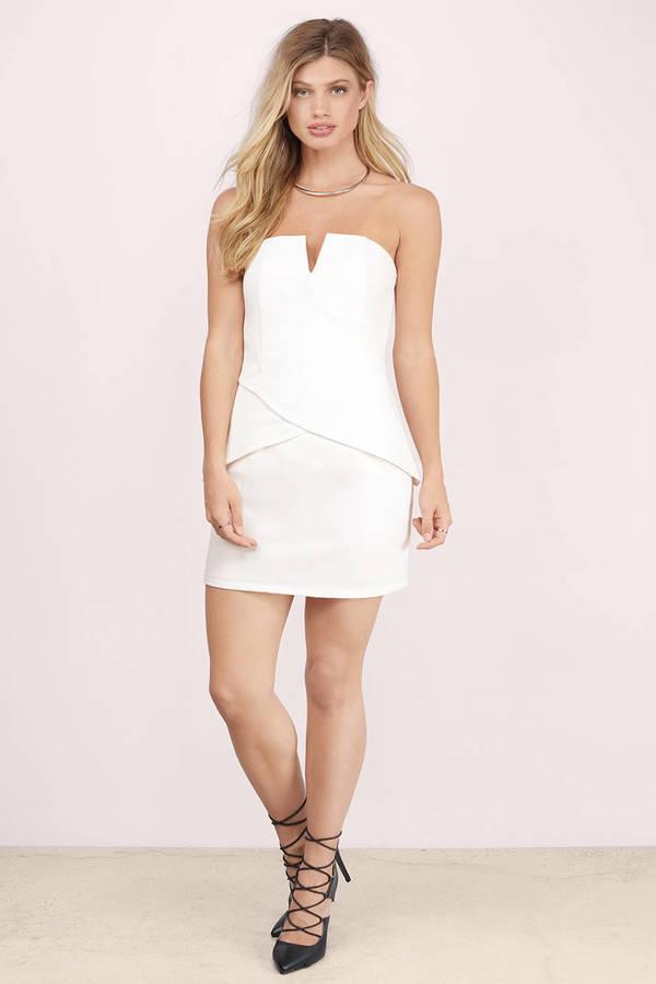 White Bodycon Tube Dress