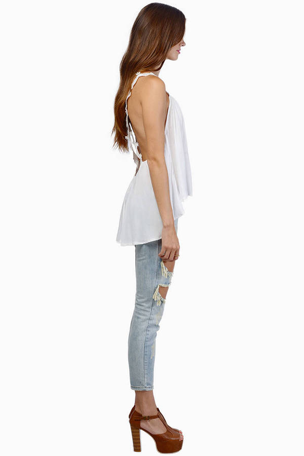 Valerie Crossed Lace Tank