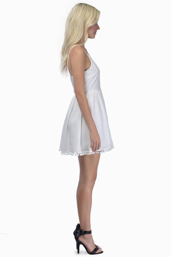 White Sands Skater Dress
