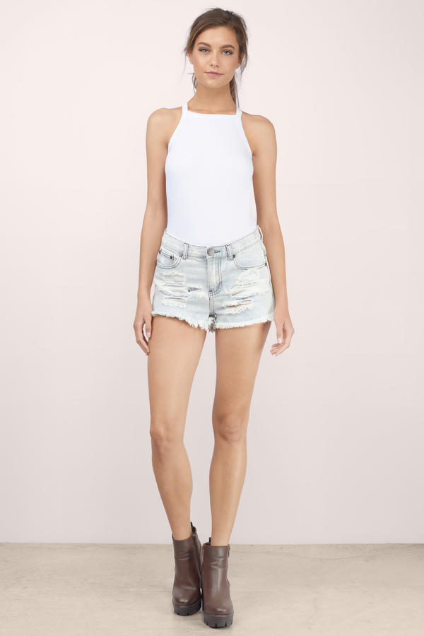 Melrose High Waisted Denim Shorts