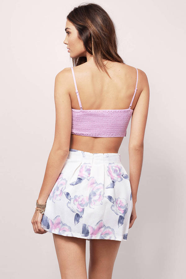 21d6f373177f Lavender Crop Top - Purple Top - Spaghetti Strap Top - Lavender Top ...