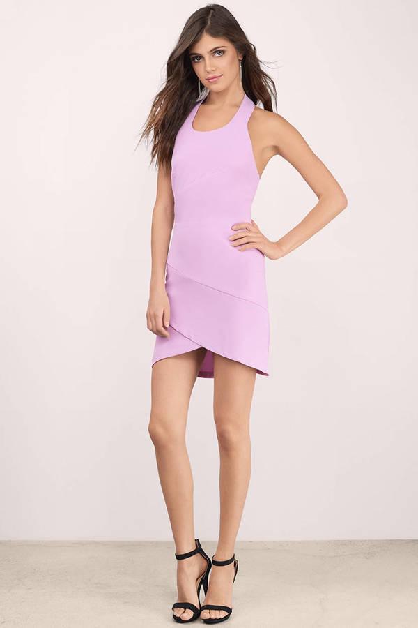 Cute Pink Bodycon Dress - Pink Dress - Halter Dress - $9.00