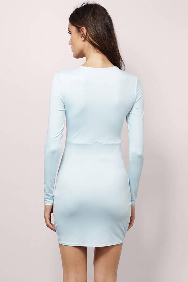 Light Blue Dress Long Sleeve Dress Beautiful Light