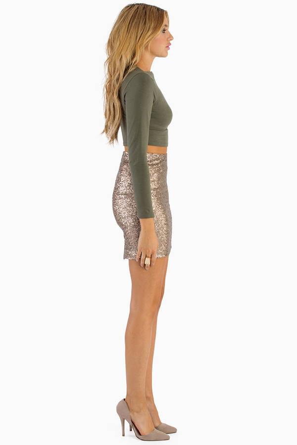 Be Seen Sequin Pencil Skirt