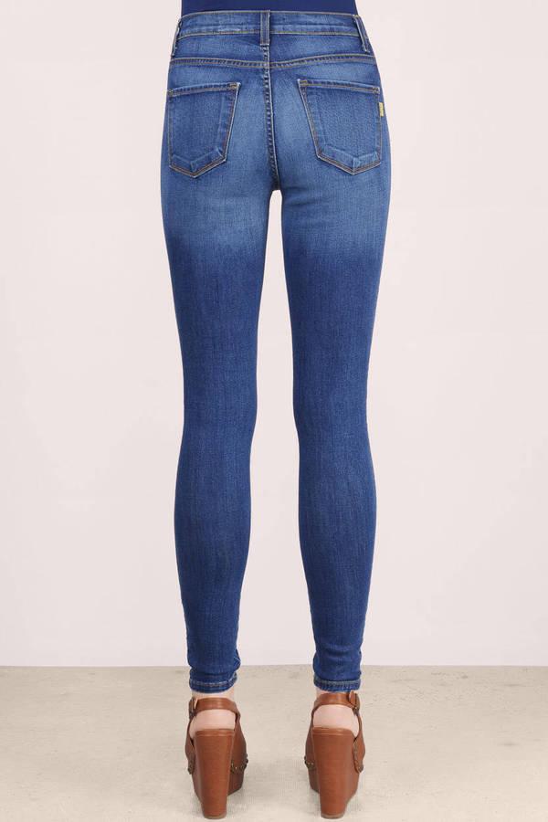 Blue Jeans - Mid-Rise Jeans - Medium Wash Jeans - Medium ...