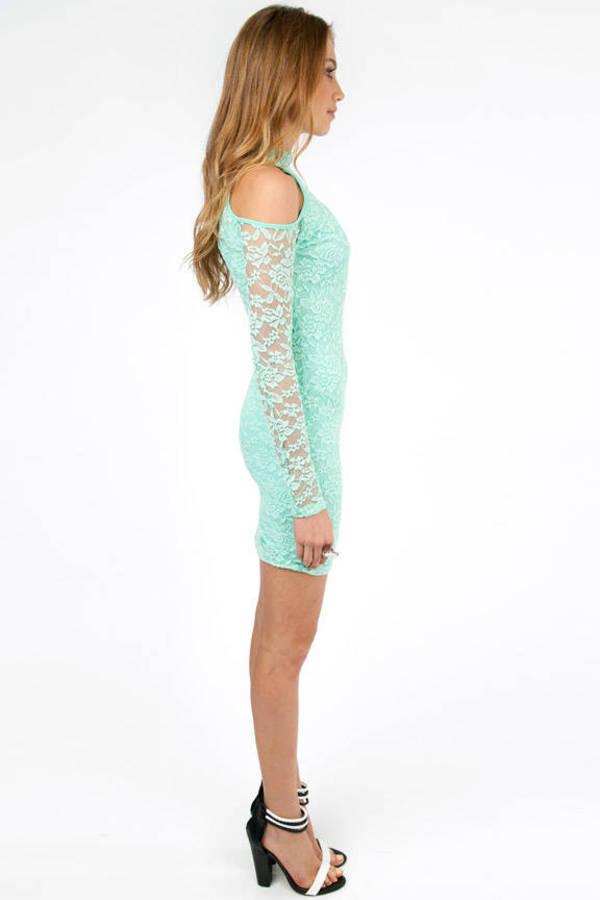 Cold Shoulder Lace Bodycon Dress