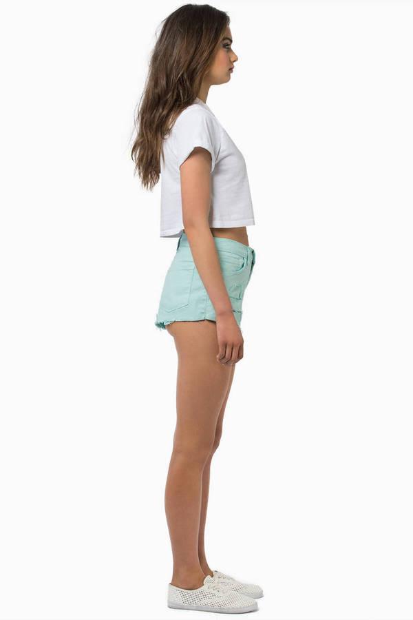 Franny Faded Denim Shorts