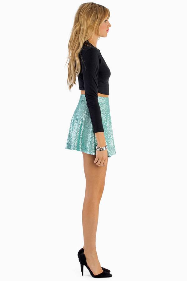Sequin Skater Skirt