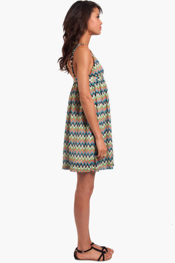 Zig Zag Babydoll Dress
