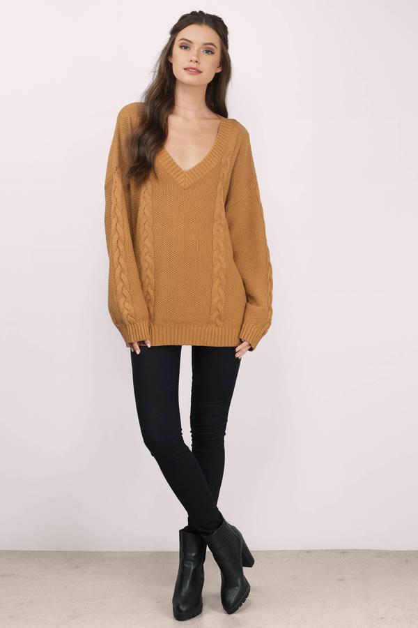Cute Mustard Sweater - Oversized Sweater - Mustard Sweater - $36 ...