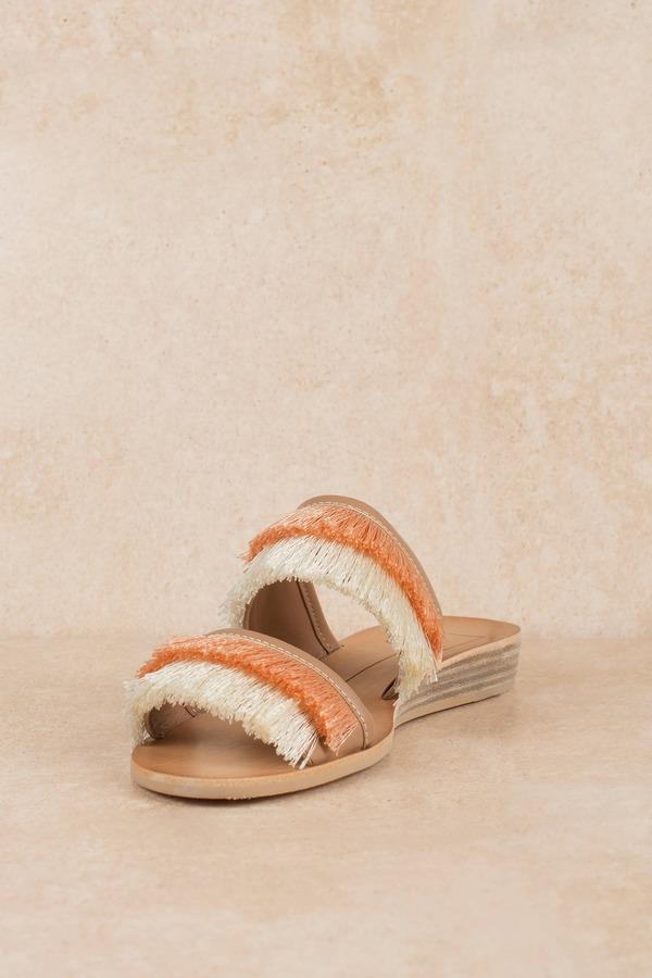 23b2207c394 Nude Dolce Vita Sandals - Colorful Fringe Sandals - Nude Dressy ...