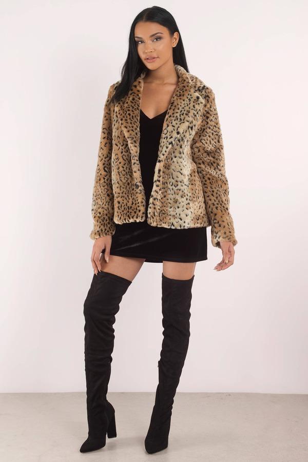 Faux Leopard Fur Coat Express Tradingbasis