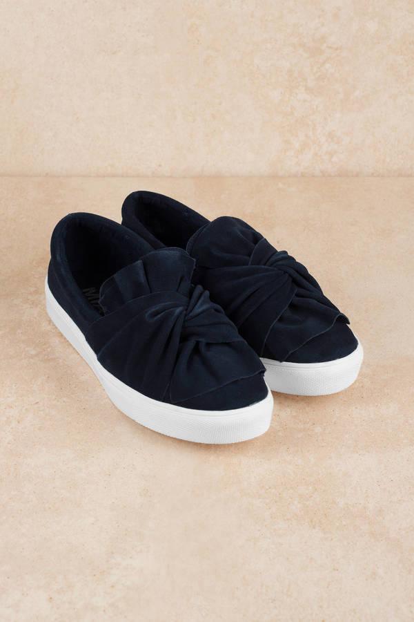 5edefa258a77 Blue Mia Shoes Sneakers - Twist Sneakers - Blue Platform Sneakers ...