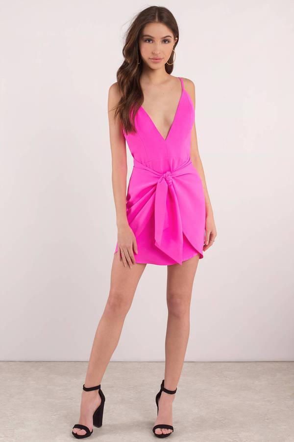 Lavender Bodycon Dress Front Tie Dress Lavender Wrap Dress 44