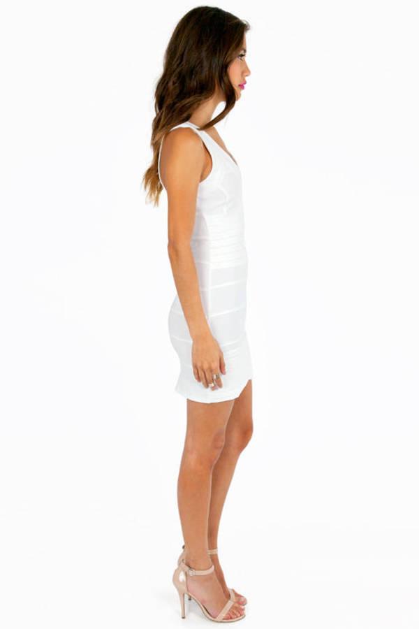 Gloria Low Cut Bodycon Dress