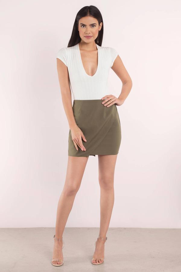 Cute Olive Skirt - Wrap Skirt - Green Skirt - $52.00